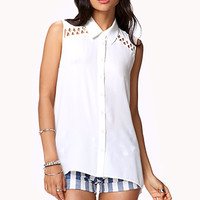 Lattice Cutout Shirt