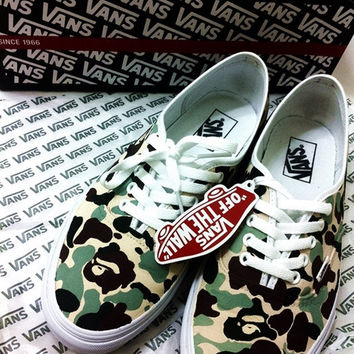 112426376e BAPE(Bathing Ape) Themed Custom Vans from Creativityism on Etsy