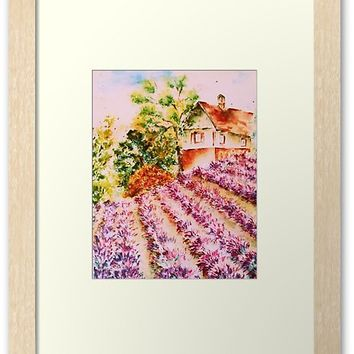'Summer in Provence' Framed Print by AdrianaMijaiche
