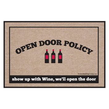 High Cotton Open Door Policy Wine Indoor / Outdoor Doormat - Doormats at Hayneedle