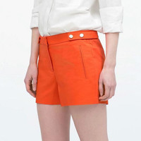 A-Line Zippered Pockets Shorts
