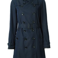 Burberry Brit lattice leather undercollar trench