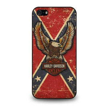 HARLEY DAVIDSON CONFEDERATE STATE iPhone 5 / 5S / SE Case Cover