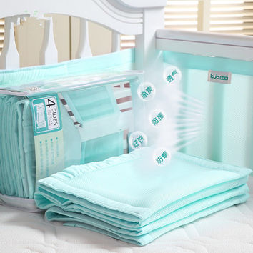 Baby Bedding Set Cot Crib Bedding Set for girls boys includes cuna Quilt baby bed bumper Sheet Skirt