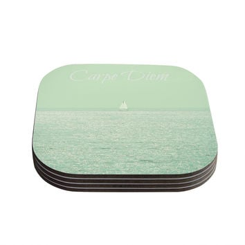 "Robin Dickinson ""Carpe Diem"" Coasters (Set of 4) - Outlet Item"