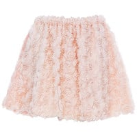 ROMWE | ROMWE Faux Roses Embellished Pink Bandeau Skirt, The Latest Street Fashion