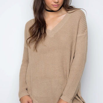 Etta Knit Sweater - Khaki