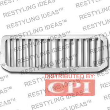 Ford 2005-2007 Ford Superduty F250/350 Chrome Vertical Wide Bar Abs Grille Performance