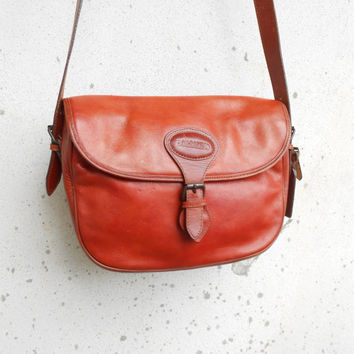 Vintage BORSALINO Leather Messenger Bag , Crossbody Bag / Medium /