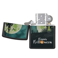 Spooky Haunted House Costume Night Sky Halloween Zippo Lighter