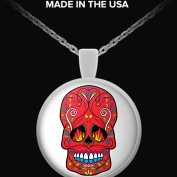 Day Of The Dead Sugar Skull Necklace 24 sugarskull-necklace24