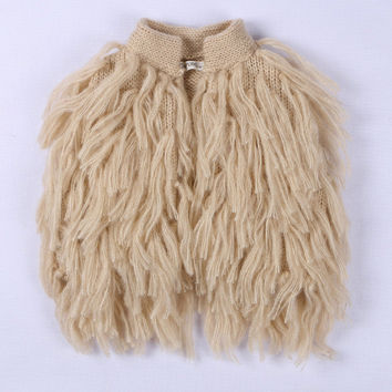Retail 2016 Hot Fringed Knitted Vest Handmade Baby Girl Waistcoats for 6M-5yrs Child Sweater Outerwear GT140