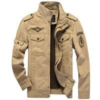 Men's Cotton Bomber Military Coat Army Outdoor Jacket