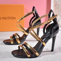 Women Fashion Casual Ankle Strap High Heels Shoes 10CM