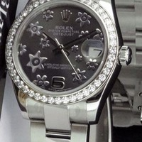 Rolex Stylish Ladies Men Business Watch Couple Wristwatch I
