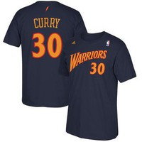 adidas Stephen Curry Golden State Warriors Navy Hardwood Classics Current Player Name