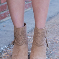 Out And About Booties, Tan