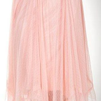 O2 COLLECTION Women's Zigzag Small Polka Dot Soft Tulle Ballet Skirt