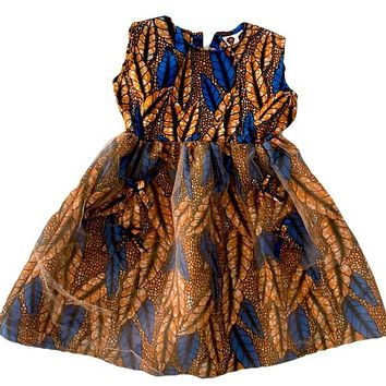 Princess Kou African Print Girl  Dress
