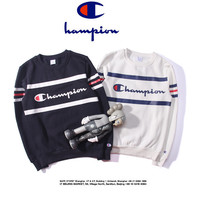 "Men's Fashion Sweatshirt ""Champion"" Print Couple Long Sleeve Pullover Hoodies  [8540567431]"
