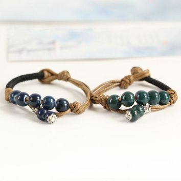 ICIK0OQ Shiny Awesome Gift Great Deal Stylish New Arrival Hot Sale Pottery Accessory Handcrafts Vintage Men Bracelet [10417789140]