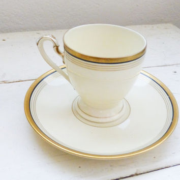 Eschenbach Bavaria Tea Cup, cute tea cup, china cup, small tea cup, fine china, gold rimmed, home decor, wedding gift, housewarming gift