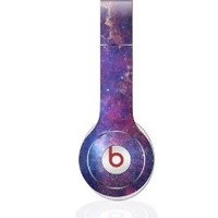 Purple Space Galaxy Nebula Design Decal Skin for Beats By Dre Solo HD Headphones