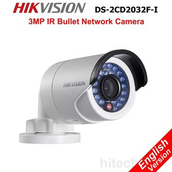 Hikvision DS-2CD2032F-I 3MP IP Security Camera IR WDR SD Card PoE Onvif Network