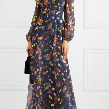 Rachel Zoe - Annabel fil coupé silk-blend maxi dress