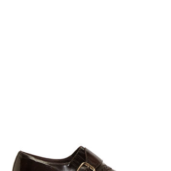 Dolce And Gabbana Brown Leather Monk Strap Shoes