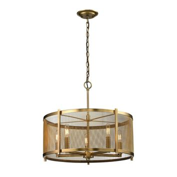 31483/5 Rialto 5 Light Pendant In Aged Brass - Free Shipping!