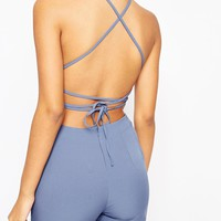 ASOS Lace Up Back Jumpsuit