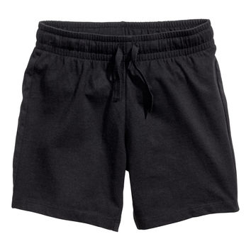 H&M - Jersey Shorts - Black - Kids