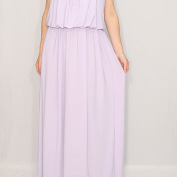 Lavender Bridesmaid dress Pale purple dress Maxi dress