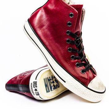John Varvatos x Converse CT Burnished Oxblood Leather Sneaker