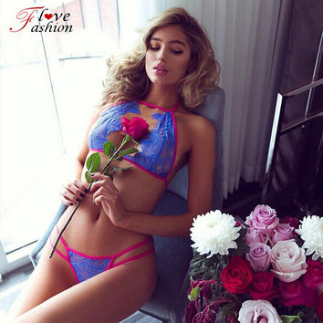 underwear women set bra set Sexy Lingerie Ropa Interior Mujer Womens 2 Piece Underwear and Bra Set Female Sexy  Brief Set