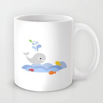 Splashing whale Mug by Limitation Free