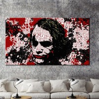 Modern Wall Graffiti Art Oil Painting Joker Print Poster on Canvas Wall Art Picture for Living Room Cuadros Home Decoration Gift