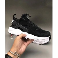 Nike Air Huarache Popular Unisex Casual Running Sport Shoes Sneakers Black I-CQ-YDX