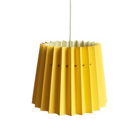 Twin Tone Lampshade Yellow & Burgundy by Lane