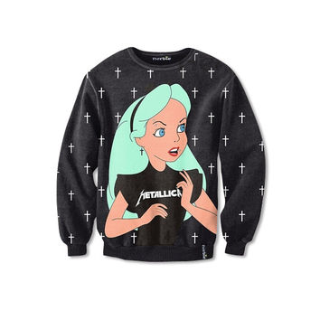 Alice in Wonderland Metallica Sweatshirt