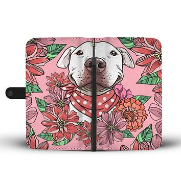 Illustrated Pit Bull Wallet Phone Case