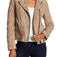 The Kooples | Suede Moto Jacket | HauteLook