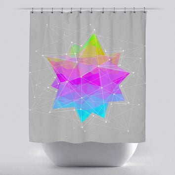 Unique Shower Curtain - Dots will Connect Star by Soaring Anchor Designs