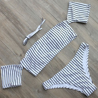 Offer Shoulder Design Bikini Beach Bathing Set