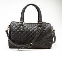 FOREVER 21 Quilted Faux Leather Satchel