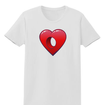 Hole Heartedly Broken Heart Womens T-Shirt
