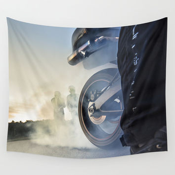 Road rage Wall Tapestry by HappyMelvin
