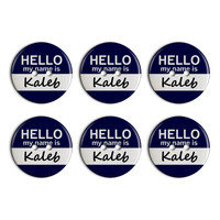 Kaleb Hello My Name Is Plastic Resin Button Set of 6