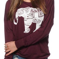 Empyre Kaden Elephant Ink Dolman Top